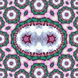 Υπόβαθρο στο ρωσικό ύφος με τον κύκλο και το σχέδιο σημείων, που παράγονται από ένα fractal σχέδιο στοκ εικόνα με δικαίωμα ελεύθερης χρήσης