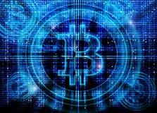 Υπόβαθρο συμβόλων Bitcoin απεικόνιση αποθεμάτων