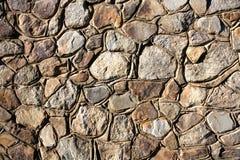 Υπόβαθρο - συσσωρευμένος πέτρινος τοίχος Στοκ Εικόνες