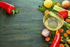 Υπόβαθρο συστατικών καρυκευμάτων λαχανικών στοκ εικόνες