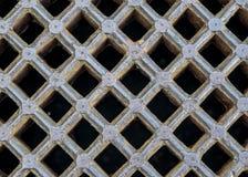 Υπόβαθρο σχαρών υπονόμων σιδήρου Στοκ Εικόνα
