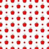 Υπόβαθρο σχεδίων φρούτων της Apple Συρμένη χέρι διανυσματική απεικόνιση Στοκ Εικόνες