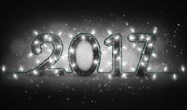 Υπόβαθρο σχεδίου καλής χρονιάς 2017 Στοκ Φωτογραφία