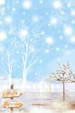Υπόβαθρο σχεδίου Χαρούμενα Χριστούγεννας με το άσπρο χιόνι - γραφική σύσταση ζωγραφικής διανυσματική απεικόνιση