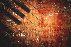 Υπόβαθρο σχεδίων μουσικής Grunge Στοκ φωτογραφία με δικαίωμα ελεύθερης χρήσης