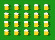 Υπόβαθρο σχεδίων μπύρας Στοκ εικόνα με δικαίωμα ελεύθερης χρήσης