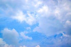 Υπόβαθρο 0098 σύννεφων και μπλε ουρανού Στοκ Φωτογραφίες