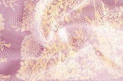 Υπόβαθρο σύστασης εικόνας, διακοσμητική χρυσή δαντέλλα με το σχέδιο Gol στοκ εικόνα