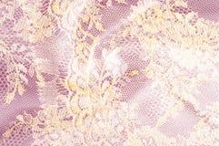 Υπόβαθρο σύστασης εικόνας, διακοσμητική χρυσή δαντέλλα με το σχέδιο Gol στοκ φωτογραφίες