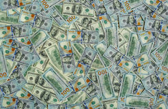 Υπόβαθρο σύστασης τραπεζογραμματίων χρημάτων δολαρίων Στοκ Φωτογραφία