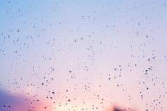 Υπόβαθρο σύστασης των σταγόνων βροχής Στοκ Εικόνες