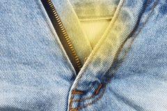 Υπόβαθρο σύστασης υφάσματος του Jean, κάποιο μέρος του κοντού μπλε τηγανιού Jean Στοκ Εικόνα