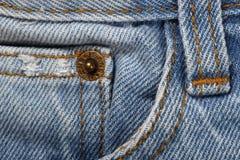 Υπόβαθρο σύστασης υφάσματος του Jean, κάποιο μέρος του κοντού μπλε τηγανιού Jean Στοκ φωτογραφία με δικαίωμα ελεύθερης χρήσης