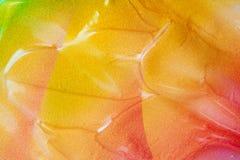 Υπόβαθρο σύστασης ύφους Vaporwave: πορτοκαλιά φοβιτσιάρης σύσταση χρωμάτων νέου στοκ εικόνες με δικαίωμα ελεύθερης χρήσης