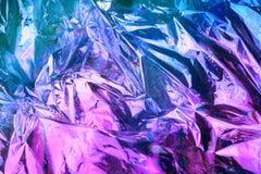 Υπόβαθρο σύστασης ύφους Vaporwave: ρόδινη φοβιτσιάρης σύσταση χρωμάτων νέου στοκ φωτογραφία