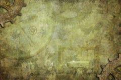 Υπόβαθρο σύστασης Steampunk Στοκ Εικόνες
