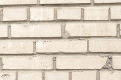 Υπόβαθρο, σύσταση, τοίχος τεμαχίων του άσπρου τούβλου Στοκ Φωτογραφία