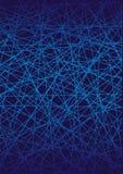 Υπόβαθρο τέχνης, γραμμές μπλε σε ένα μαύρο υπόβαθρο Φωτεινά χρώματα Στοκ Φωτογραφίες