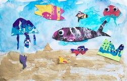 Υπόβαθρο τέχνης πλασμάτων θάλασσας Στοκ Φωτογραφίες