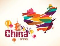 Υπόβαθρο ταξιδιού της Κίνας απεικόνιση αποθεμάτων