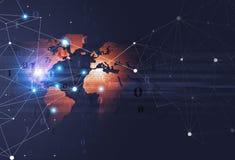 Υπόβαθρο τεχνολογίας δυαδικού κώδικα Στοκ Εικόνες