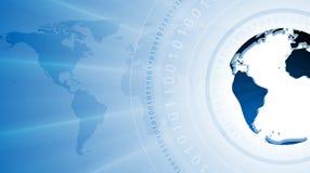 Υπόβαθρο τεχνολογίας με το δυαδικό κώδικα και τη σφαίρα Στοκ εικόνες με δικαίωμα ελεύθερης χρήσης