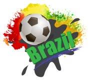 Υπόβαθρο της Βραζιλίας Παγκόσμιου Κυπέλλου ποδοσφαίρου Στοκ Εικόνες