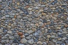 Υπόβαθρο της επιφάνειας τοίχων πετρών με το τσιμέντο Στοκ Εικόνα