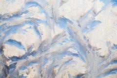 Υπόβαθρο της ζωγραφικής στο παγωμένο παράθυρο από τον παγετό - κανένας Στοκ φωτογραφίες με δικαίωμα ελεύθερης χρήσης