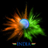 Υπόβαθρο της Ινδίας με το φύσημα χρώματος Στοκ φωτογραφία με δικαίωμα ελεύθερης χρήσης