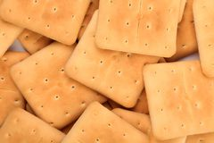 Υπόβαθρο της κροτίδας σόδας saltine πασσάλων. Στοκ φωτογραφίες με δικαίωμα ελεύθερης χρήσης