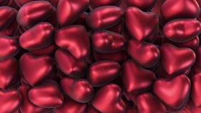Υπόβαθρο της πολλαπλότητας των κόκκινων καρδιών αέρα φιλμ μικρού μήκους