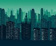 Υπόβαθρο της πόλης νύχτας απεικόνιση αποθεμάτων