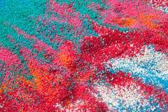 Υπόβαθρο της χρωματισμένης κινηματογράφησης σε πρώτο πλάνο άμμου Στοκ Εικόνες