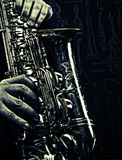 Υπόβαθρο της Jazz Στοκ Φωτογραφίες