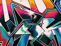 Υπόβαθρο τοίχων γκράφιτι Αστική τέχνη οδών Στοκ Φωτογραφία