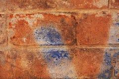 Υπόβαθρο τοίχων, μπλε πορτοκαλιά γκράφιτι στη Βενετία, Ιταλία Στοκ φωτογραφίες με δικαίωμα ελεύθερης χρήσης