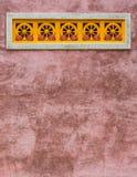 Υπόβαθρο τοίχων ναών στοκ φωτογραφία