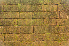 Υπόβαθρο τοίχων φραγμών τούβλου, φρούριο Noen Wong Στοκ Εικόνες