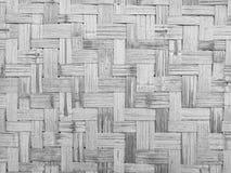 Υπόβαθρο τοίχων ύφανσης μπαμπού Στοκ Εικόνες