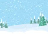 Υπόβαθρο τοπίων χειμερινών αγώνων Στοκ εικόνες με δικαίωμα ελεύθερης χρήσης