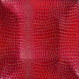 Υπόβαθρο του κοκκίνου που λουστράρει τον κροκόδειλο με λάκκα κοίλος Στοκ Εικόνες