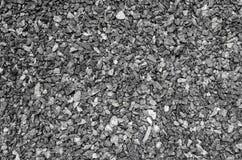 Υπόβαθρο του μικρού αμμοχάλικου του γκρίζου χρώματος Μεταλλοφόρο κοίτασμα των ερειπίων Στοκ Εικόνες
