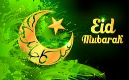 Υπόβαθρο του Μουμπάρακ Eid (ευτυχές Eid) διανυσματική απεικόνιση