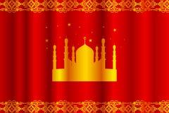 Υπόβαθρο του Μουμπάρακ Eid (ευτυχές Eid) Στοκ Εικόνα