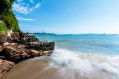 Υπόβαθρο του μπλε ουρανού και της θάλασσας στοκ εικόνες