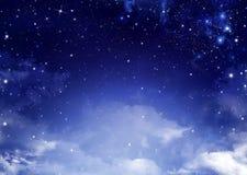 Υπόβαθρο του νυχτερινού ουρανού Στοκ Εικόνα