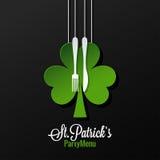 Υπόβαθρο του Πάτρικ Day Menu Logo Design Στοκ Φωτογραφία
