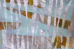 Υπόβαθρο του παλαιού τοίχου με τα άβαφα χρωματισμένα σημεία στοκ φωτογραφίες
