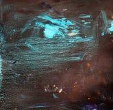 Υπόβαθρο του παλαιού τοίχου με το φορεμένο χρώμα Σκοτεινή ανασκόπηση στοκ φωτογραφίες